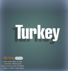 Turkey icon on the blue-green abstract background vector