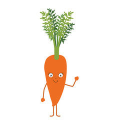 White background with carrot cartoon vector