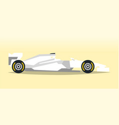 white racing bolid sports car quick transport vector image