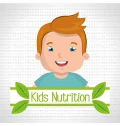 Kids food nutrition healthy vector