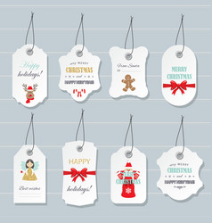 Christmas labels and badges set vector