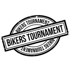 Bikers Tournament rubber stamp vector image