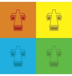 Set of crosses vector image