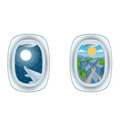 airplane window view vector image