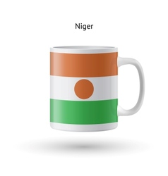 Niger flag souvenir mug on white background vector