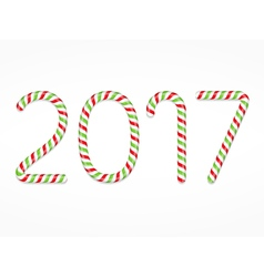 2017 Candy Canes vector image vector image