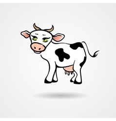Cartoon cow isolated on a white background vector