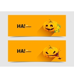 Halloween pumpkin with autumn flowers vector