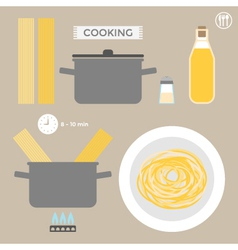 Infographics cooking pasta vector