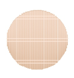 A round bamboo mat on white background vector