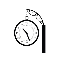Clock old black vector