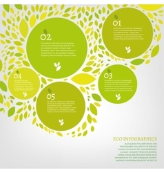 Leaf infographic vector