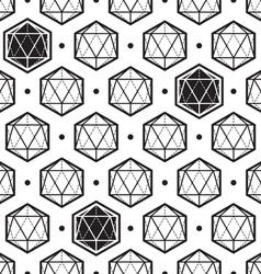 icosahedron pattern vector image