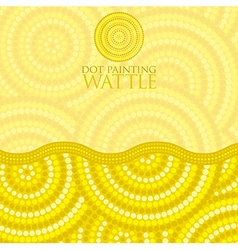 Dot painting invite greeting card in format vector