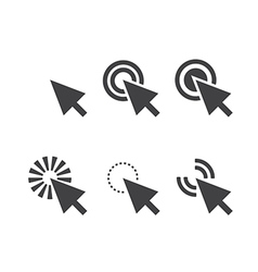 Click icon vector