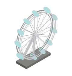 Ferris wheel icon isometric 3d style vector