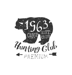 Premium hunting club vintage emblem vector