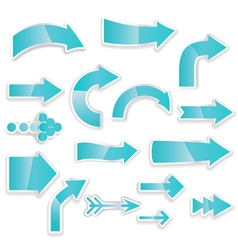 arrows blue vector image