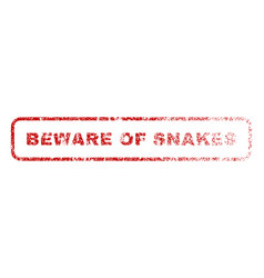 Beware of snakes rubber stamp vector