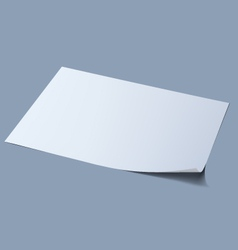 Blank sheet of paper vector image vector image