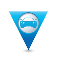 car3 BLUE triangular map pointer vector image vector image