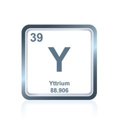 Chemical element yttrium from the periodic table vector