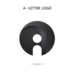 Creative A-letter icon abstract logo design vector image vector image