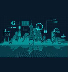 Digital city vector