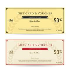 Elegant discount gift card and voucher template vector