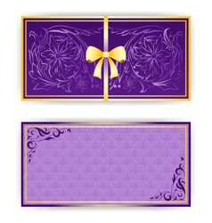 Exquisite template for greeting card invitation vector