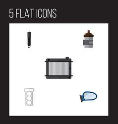 Flat component set of absorber combustion heater vector