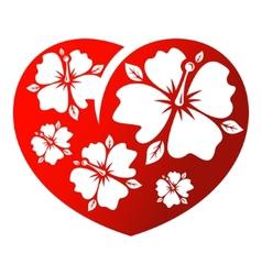Flower heart vector