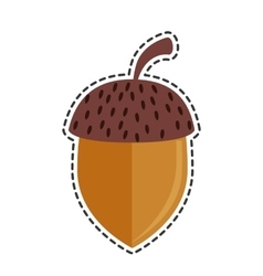 Nut seed isolated icon vector