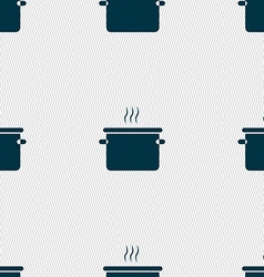 pan cooking icon sign Seamless pattern with vector image