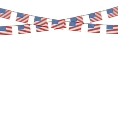 Patriotic symbolic decoration for holiday usa vector