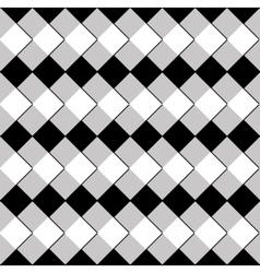 pattern of black white and gray rhombus vector image