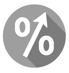 Percent increase icon of set material design vector