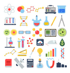 scientific equipment for chemical testing science vector image vector image