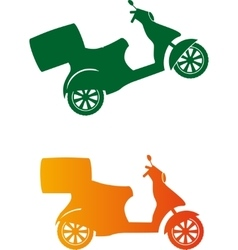 Scooter silhouette - fast delivery service vector