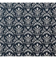 Seamless wallpaper background floral vintage black vector image vector image