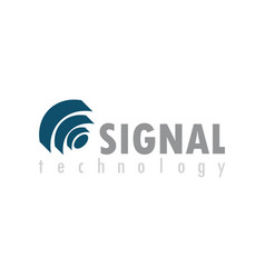 signal technology logo vector image