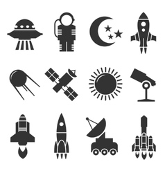 Space and astronomy icons vector image vector image