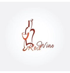 Stylized wine icon vector image vector image