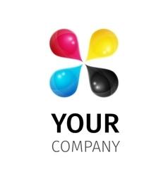 Template cmyk logo vector