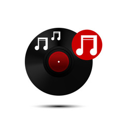 Vinyl record icon vector