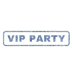 Vip party textile stamp vector