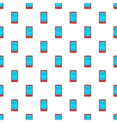 Watch on mobile phone pattern cartoon style vector