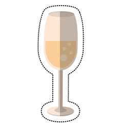 Wedding glass cup drink vector