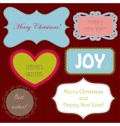 Set of christmas ng new year banners vector image