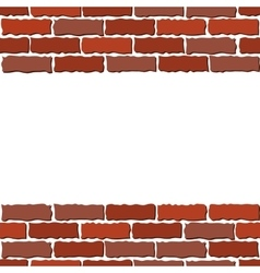 Brown brick wall vector
